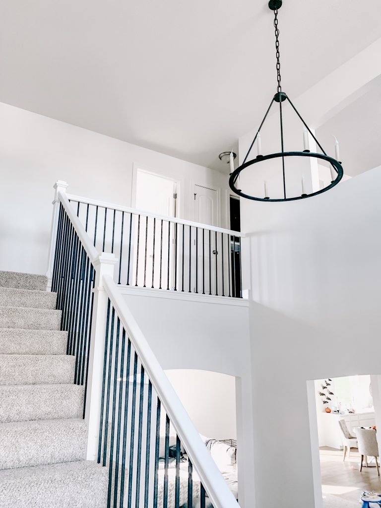 staircase chandelier photo