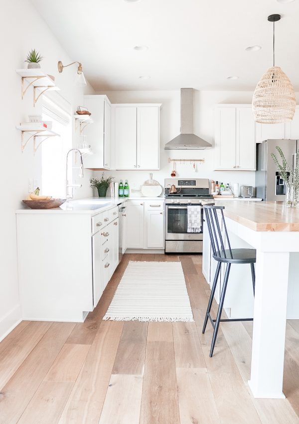 how to combine open shelving and cabinets image 2