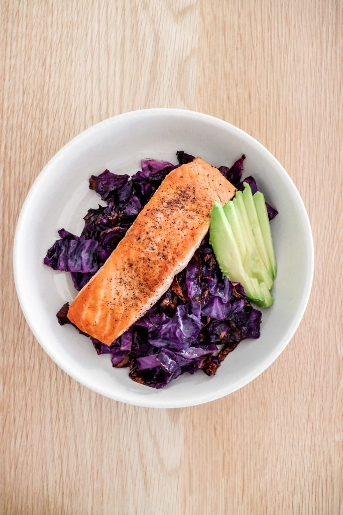 Pan-Seared Salmon and Roasted Cabbage