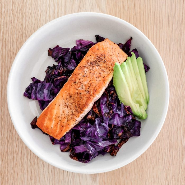 Salmon Red Cabbage Bowl