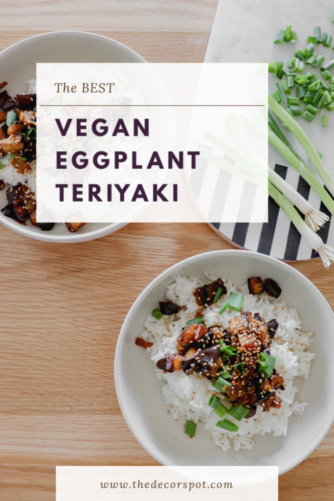 Pinterest Pin Eggplant Teriyaki