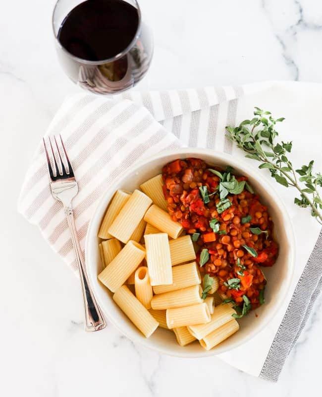slow cooker vegan bolognese main image