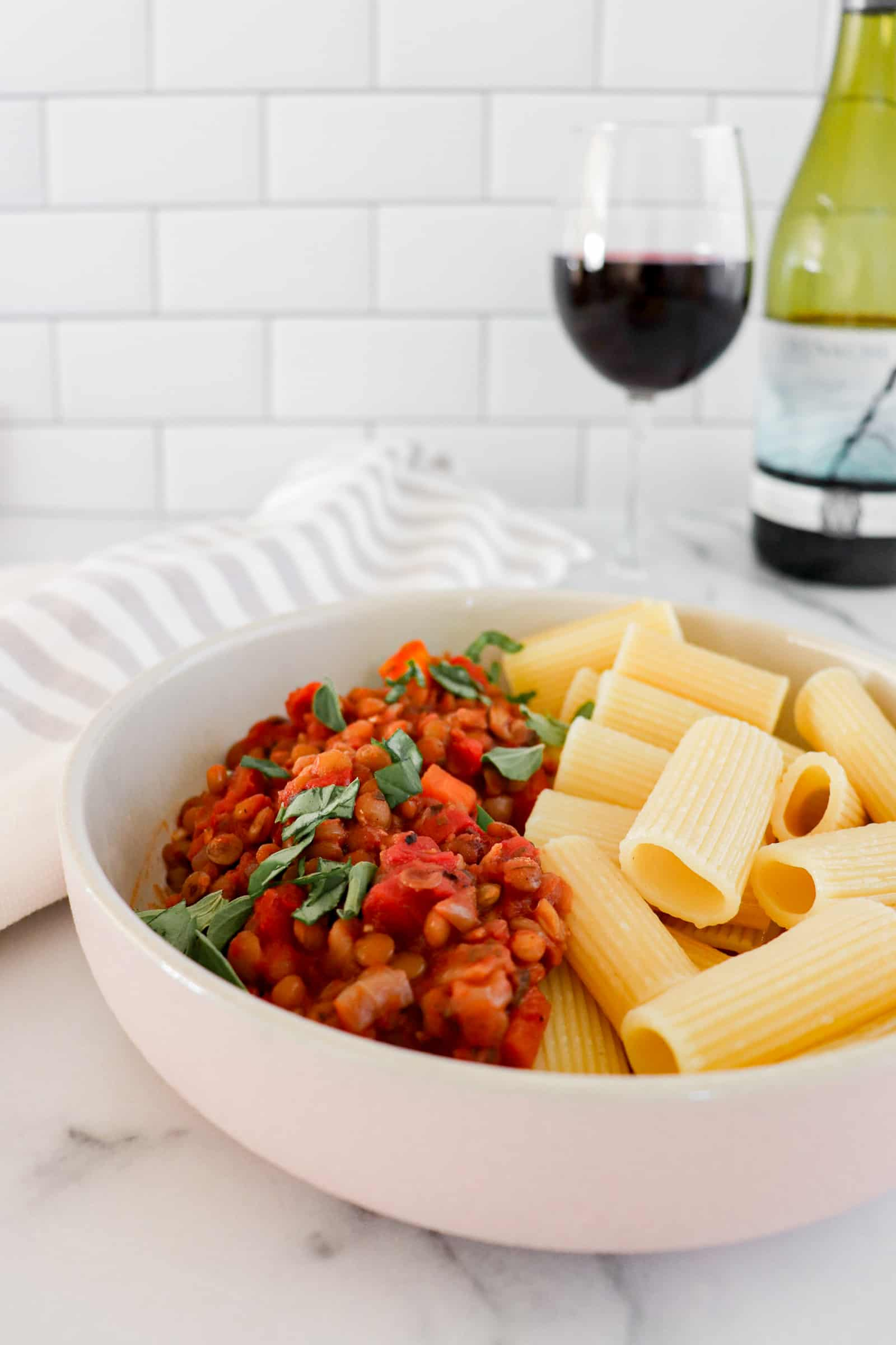 Crockpot Vegan Bolognese with Red Wine