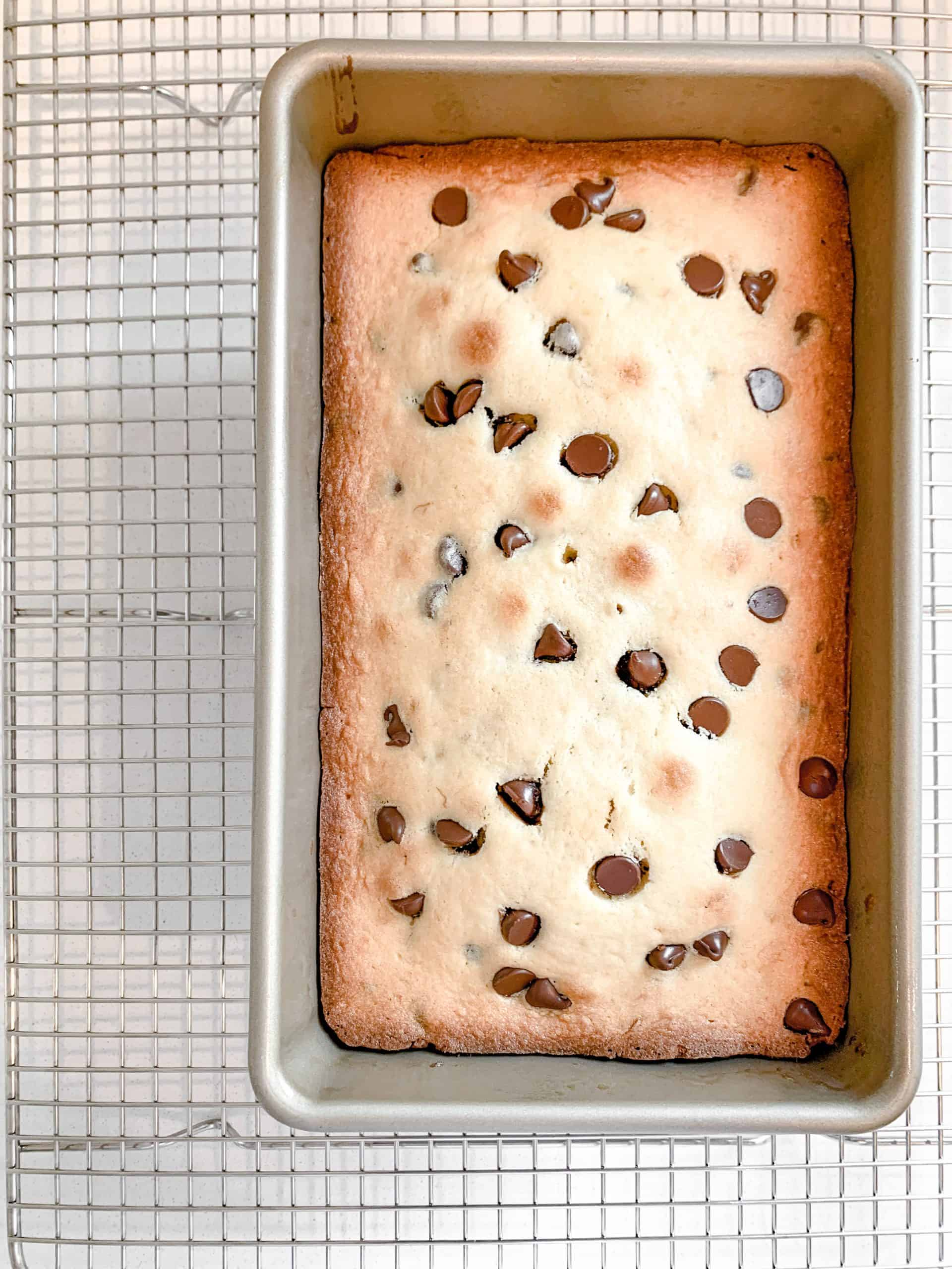 banana chocolate chip pound cake main image