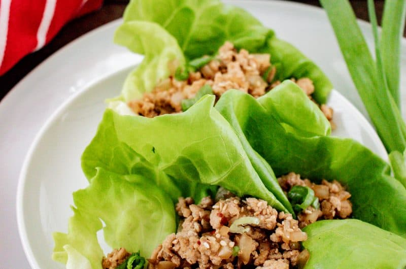 here image for ground chicken lettuce cups