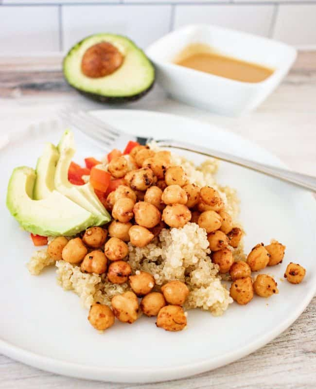 hero image for BBQ Ranch Chickpea Salad