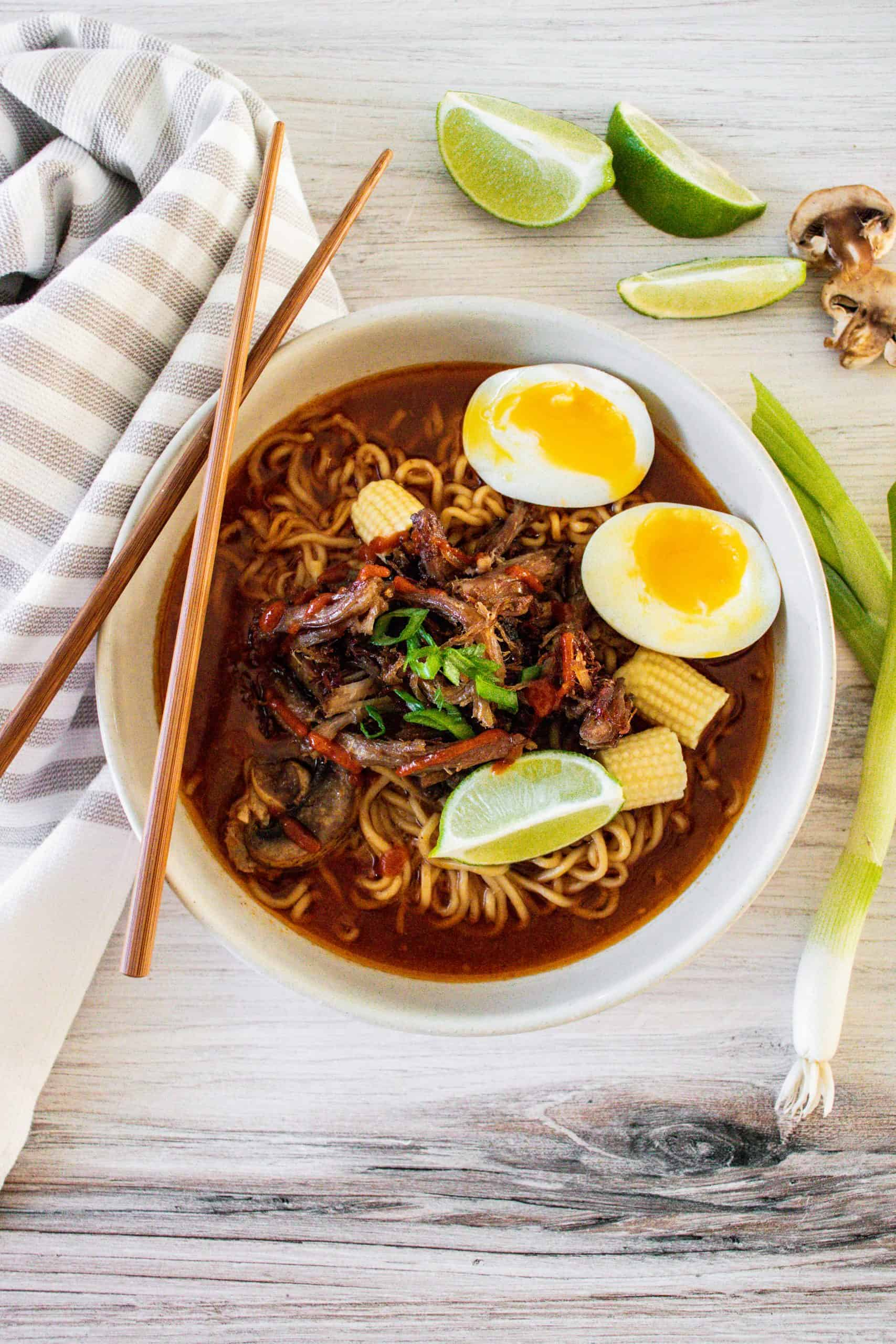 Easy Crockpot Pork Ramen