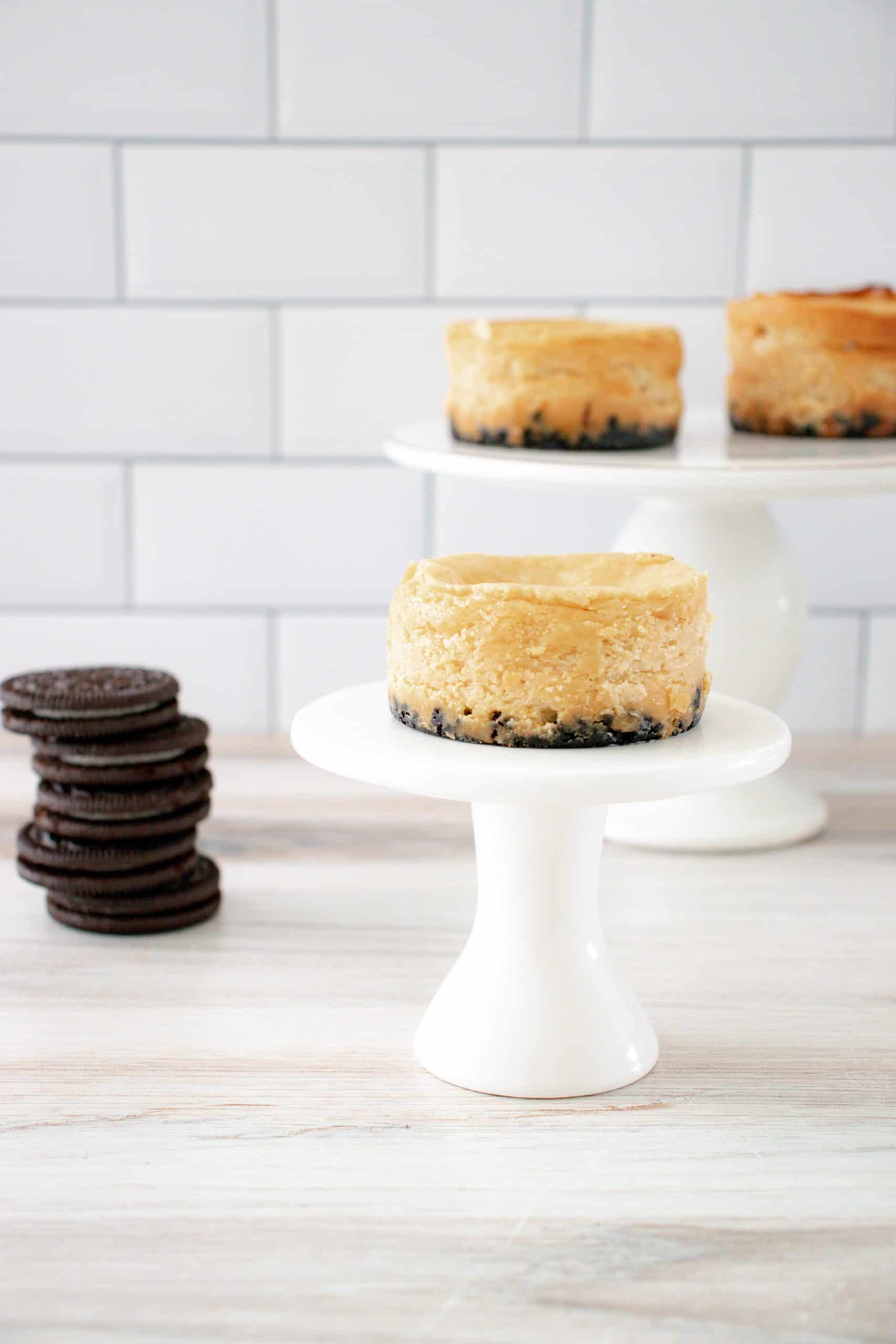 hero image Mini Peanut Butter Oreo Cheesecakes