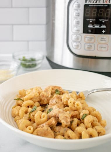 Hero image for Instant Pot Gooey Cheesy Garlic Pasta