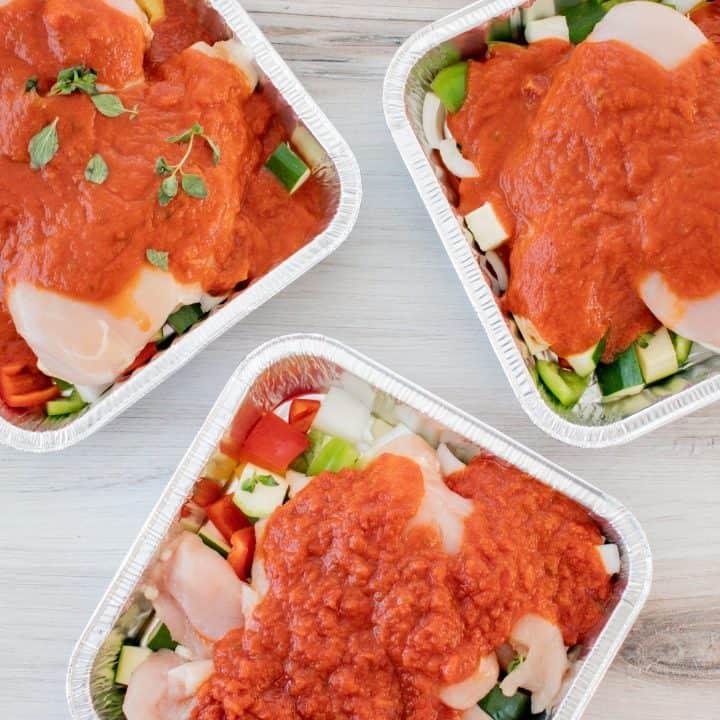 CrockPot Chicken Cacciatore Freezer Meal thumbnail