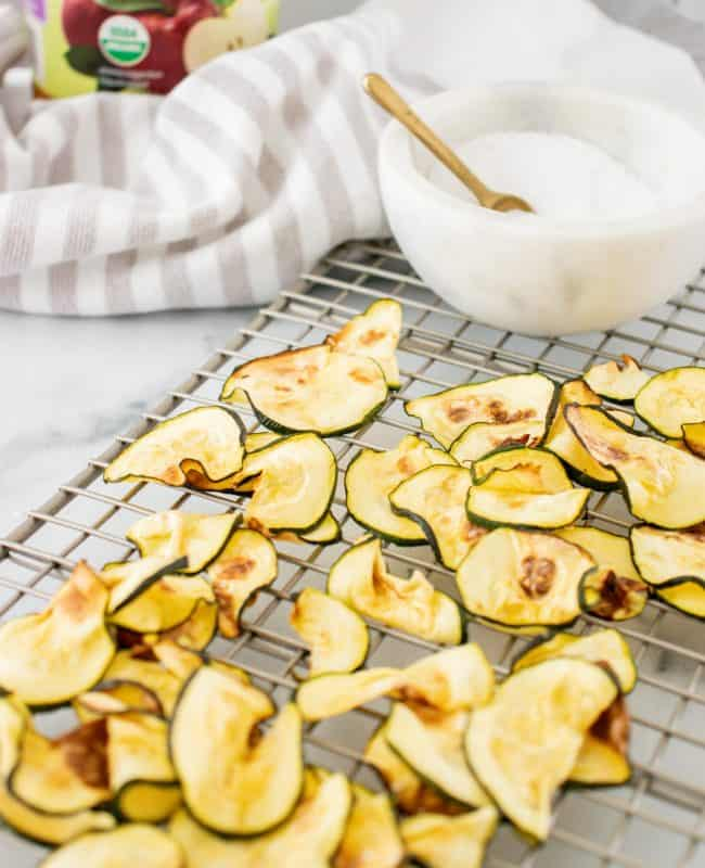 Hero image for Low Carb Air Fryer Salt and Vinegar Zucchini Chips