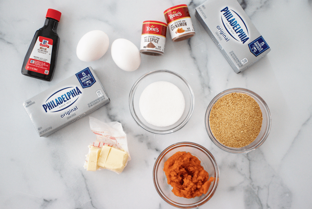 ingredients image for the easiest mini pumpkin cheesecakes