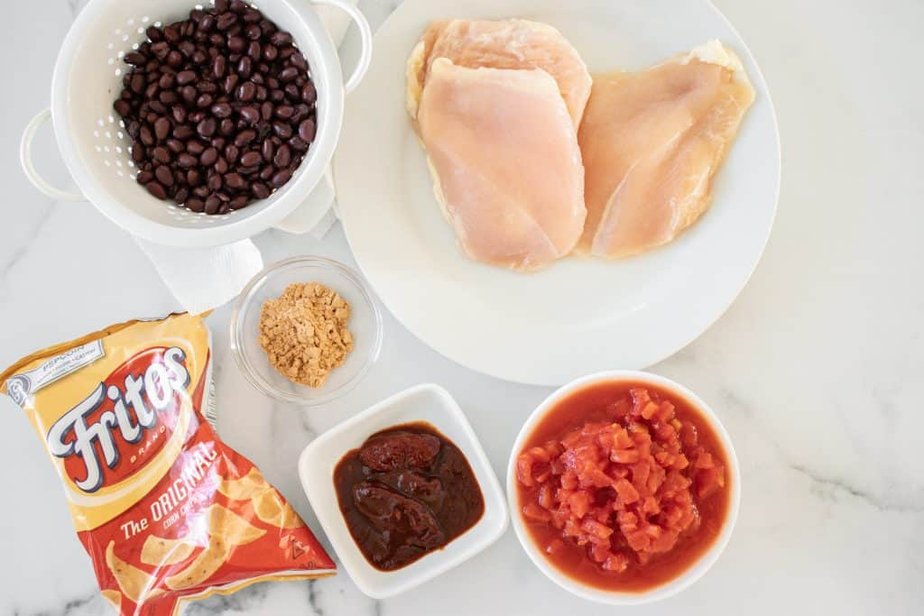 Instant Pot Chicken Adobo Walking Tacos Ingredients Image