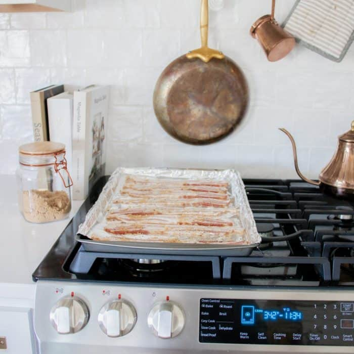 Super easy oven-baked candied bacon