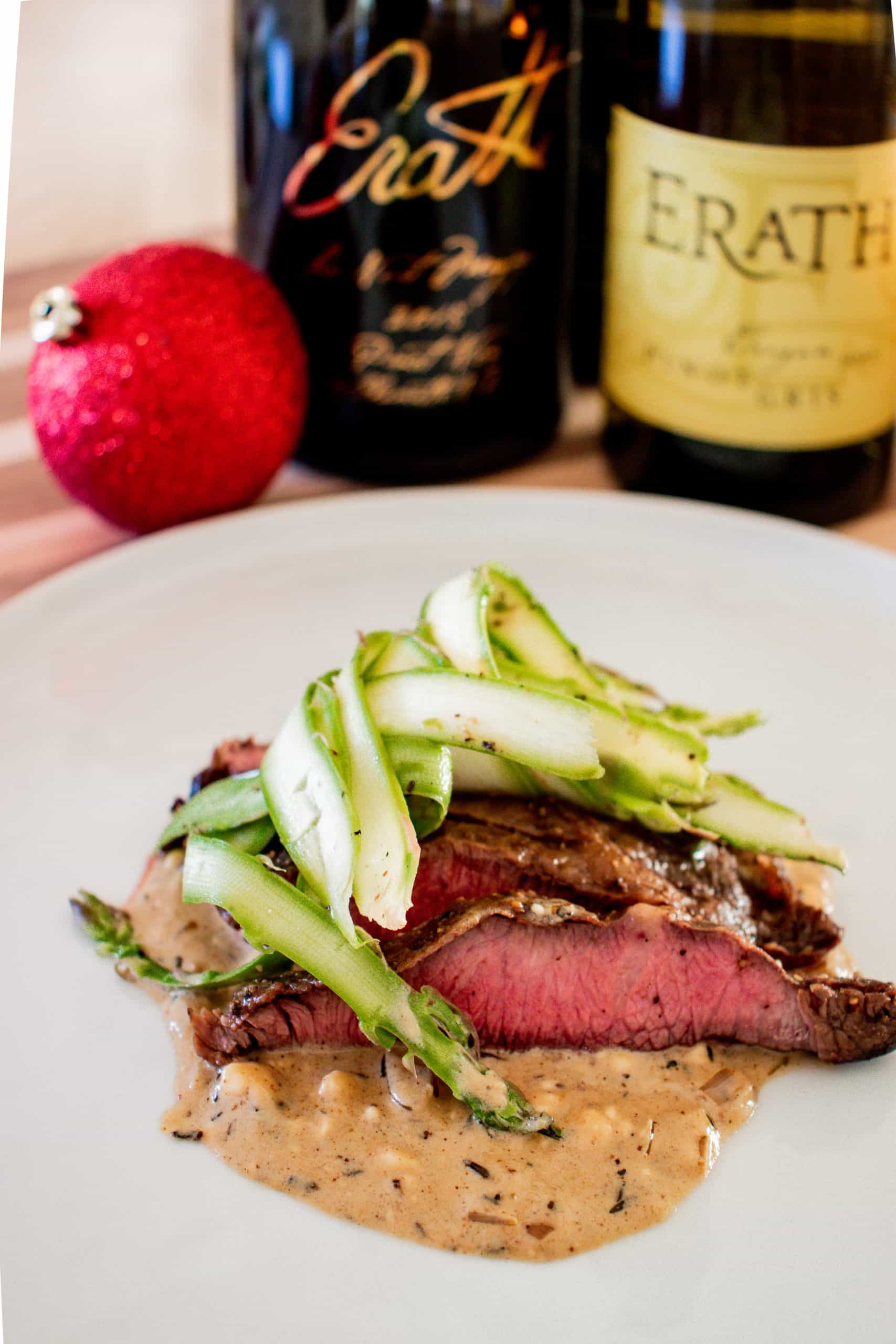 Pan-Seared Skirt Steak with Blue Cheese Cream Sauce